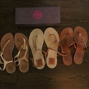 Lot of 3 Tory Burch Sandler's